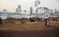 Kanyaruchinya camp North of Goma where 38,000 displaced seek assistance and protection from the conflict.