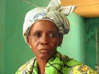 Sara Doua, a widow at a food distribution organized by Caritas Mali