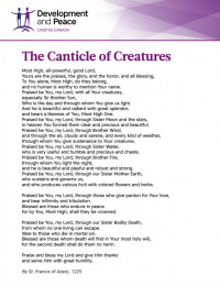 Canticle of Creatures