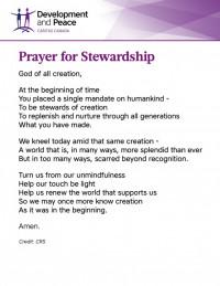 Prayer for Stewardship