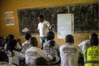 A training with Caritas community health volunteers in Sierra Leone
