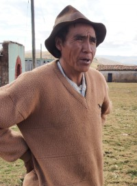 Arturo Castro, leader of the community of Cruz Pampa, a village that will be displaced by a mining project.