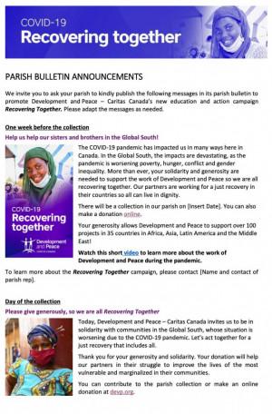 Parish Bulletin Announcements