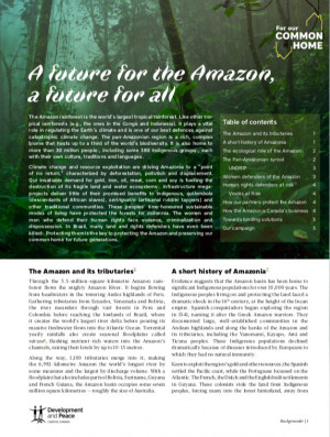 A future for the Amazon, a future for all - Backgrounder